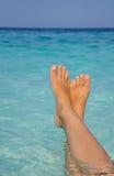 Rilassamento del mare Fotografia Stock