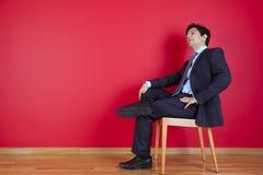 Rilassamento dell'uomo d'affari Fotografia Stock Libera da Diritti
