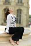 Rilassamento della donna di affari Fotografie Stock Libere da Diritti
