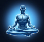 Rilassamento meditating di spiritualità di yoga di meditazione Immagini Stock