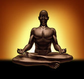 Rilassamento meditating di spiritualità di yoga di meditazione Immagini Stock Libere da Diritti
