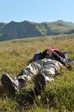 Rilassamento in montagne Immagine Stock