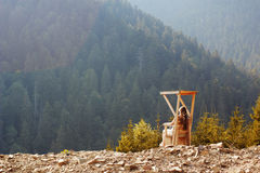 Rilassamento in montagne Fotografia Stock Libera da Diritti