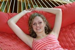 Rilassamento sul hammock Immagini Stock Libere da Diritti