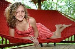 Rilassamento sul hammock Immagine Stock Libera da Diritti