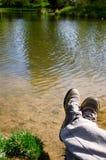 Rilassandosi in natura fotografie stock