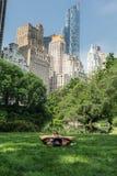 Rilassandosi nel Central Park, New York Fotografia Stock