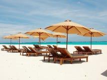 Rilassandosi in Sunny Maldives Immagine Stock Libera da Diritti