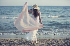 Rilassato sulla spiaggia Fotografie Stock