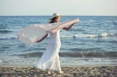Rilassato sulla spiaggia Fotografia Stock
