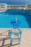 Rilassi al poolside Fotografia Stock