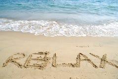 Rilassi alla sabbia Immagini Stock