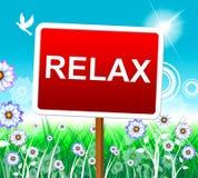 Rilassi il rilassamento rappresenta il piacere di riposo e rilassato royalty illustrazione gratis