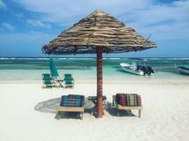 Rilassi il tempo sulla spiaggia Immagini Stock Libere da Diritti