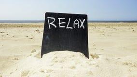 Rilassi sulla spiaggia Fotografia Stock Libera da Diritti