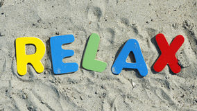 Rilassi sulla spiaggia Fotografie Stock
