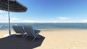 Rilassi sulla spiaggia. Fotografia Stock Libera da Diritti