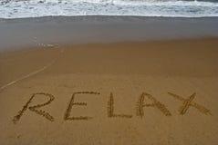 Rilassi sulla spiaggia sabbiosa 1 Fotografia Stock