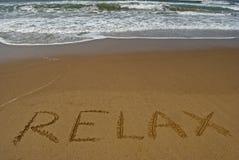 Rilassi sulla spiaggia sabbiosa 2 Immagini Stock