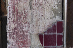 Red Tiles Breaking Away stock photography