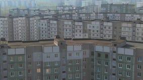 Rilevamento aereo Paesaggio urbano, vecchia architettura stock footage
