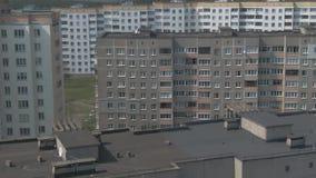 Rilevamento aereo Paesaggio urbano, vecchia architettura video d archivio
