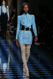 Riley Montana walks the runway during the Balmain show Stock Photo