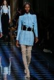 Riley Montana walks the runway during the Balmain show Royalty Free Stock Images