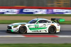 Riley Motosports - Mercedes-AMG GT3. 33 Team Riley Motosports, Mercedes-AMG GT3, Keating, Bleekemolen Royalty Free Stock Photos