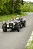 Riley samochodowy bieg w Mille Miglia rasie Obrazy Royalty Free