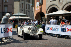 Riley 124 Sprite bei Mille Miglia 2016 Lizenzfreie Stockfotos