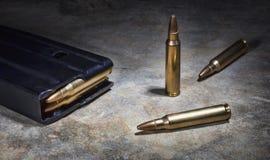 Rilfe munitie Royalty-vrije Stock Foto's