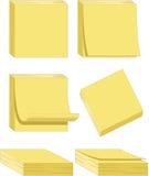 Rilievi di nota gialli - illustrazioni di vettore Immagine Stock