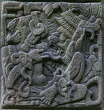 Rilievi di pietra Mayan antichi Immagine Stock Libera da Diritti