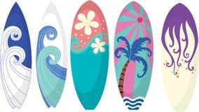 Rilievi praticanti il surfing Fotografie Stock
