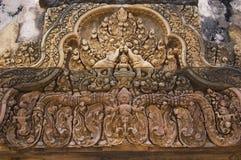 Rilievo al tempiale di Angkor Fotografie Stock Libere da Diritti