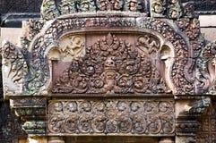 Rilievo al tempiale di Angkor Fotografia Stock Libera da Diritti