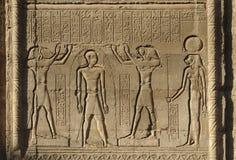 Rilievo al tempiale di Chnum nell'Egitto Fotografia Stock Libera da Diritti