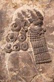 Rilievo Assyrian di arte Fotografia Stock Libera da Diritti