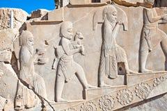 Rilievo basso, f Persepolis, Iran fotografia stock libera da diritti