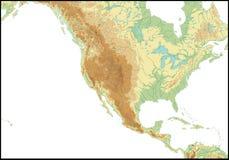 Rilievo degli S.U.A. illustrazione di stock