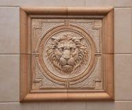Rilievo del leone Fotografia Stock Libera da Diritti