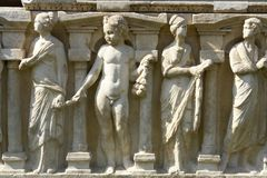 Rilievo del sarcofago dal Bizantino Immagini Stock Libere da Diritti