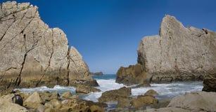 Rilievo della linea costiera Fotografia Stock