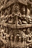Rilievo di Bas in tino di Angkor Immagini Stock Libere da Diritti