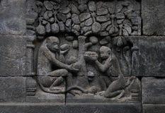 Rilievo di Borobudur Immagine Stock Libera da Diritti