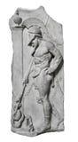 Rilievo di e guerriero del greco antico immagini stock libere da diritti