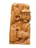Rilievo di legno di arte dell'annata isolato sopra bianco Fotografie Stock Libere da Diritti