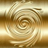 Rilievo a spirale astratto del metallo, colore dell'oro Immagine Stock Libera da Diritti