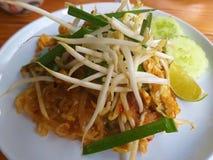 Rilievo tailandese Germi di soia messi Limone Pepe rosso immagini stock